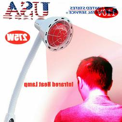 275W IR Infrared Red Heat Light Floor Stand Pain Relief Lamp
