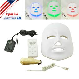 3 Color LED Light Therapy Face Mask Anti Ageing Beauty Skin
