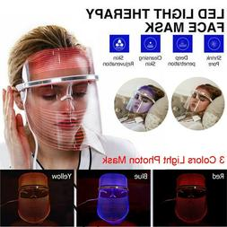 3 Color LED Light Therapy Face Mask USB Phototherapy Shrink