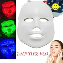3 Colors Light Photon LED Facial Mask Anti-aging Therapy Pro