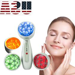 4 Color LED Light Photon Therapy System Facial Skin Care Ant