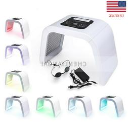 7 Color LED Light Photon Therapy Face Facial Skin Therapy Wr
