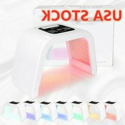 7 Color LED Light Photon Therapy Face Facial Beauty Skin The