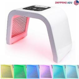 7 Color LED Photon Light Therapy Face Body Beauty Machine Sk
