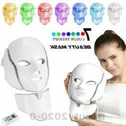 7 Color LED Photon Therapy Skin Rejuvenation Facial&Neck Bea