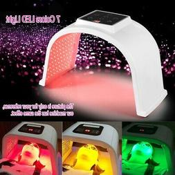 7 colors led light therapy skin rejuvenation