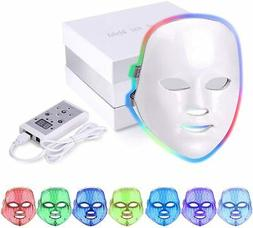 7 Colors Light LED Photon Therapy Face Mask For Anti aging W