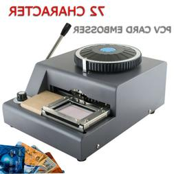 72 Character Letter Manual Embosser Stamping Machine PVC Cre