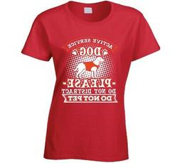 Active Service Therapy Dog Training Ladies T Shirt