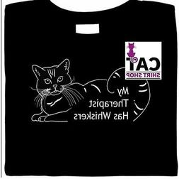 Cat Therapy Shirt, My Therapist Has Whiskers, Comfort Kitty,
