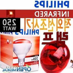 Philips Infrared Light Lamp 250W Safe Eye HealthySkin Ther