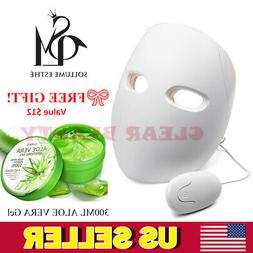 Korean Sollume Esthe Red LED Mask Photon Light Therapy Facia