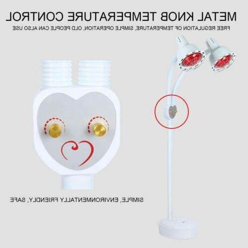 275W Double Head Infrared Light Lamp Temperature Adjustable