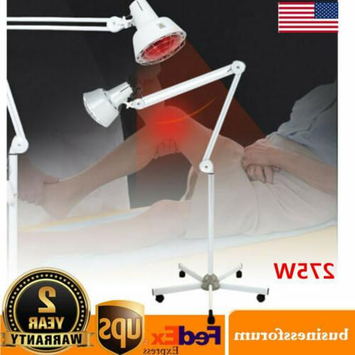 275w infrared heat lamp floor stand therapy