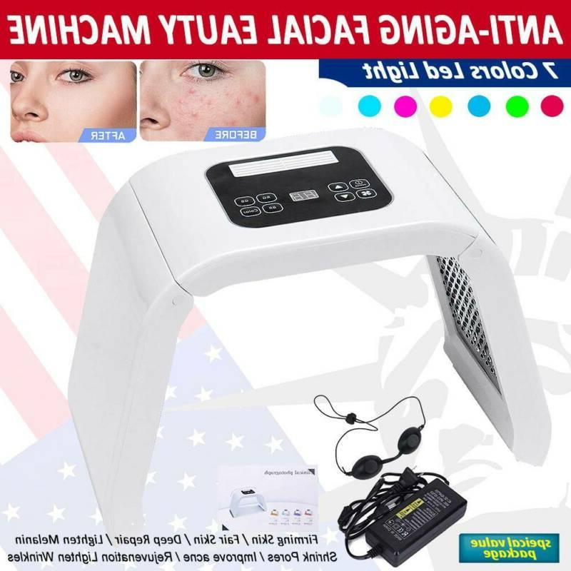 7 color led light pdt facial therapy