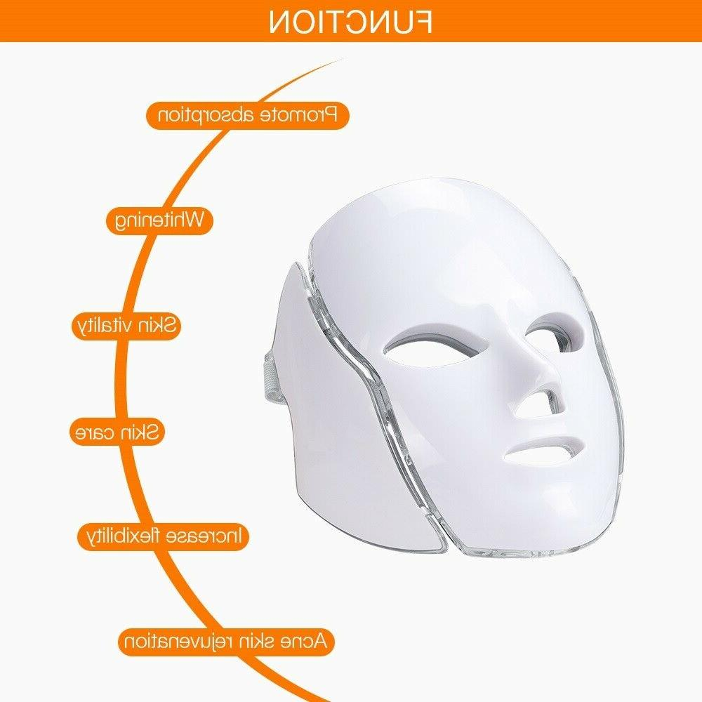7 LED LIGHT PHOTON THERAPY FACE CARE US