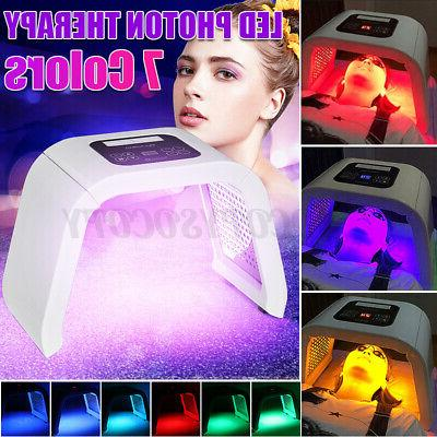 7 color led light photon therapy face