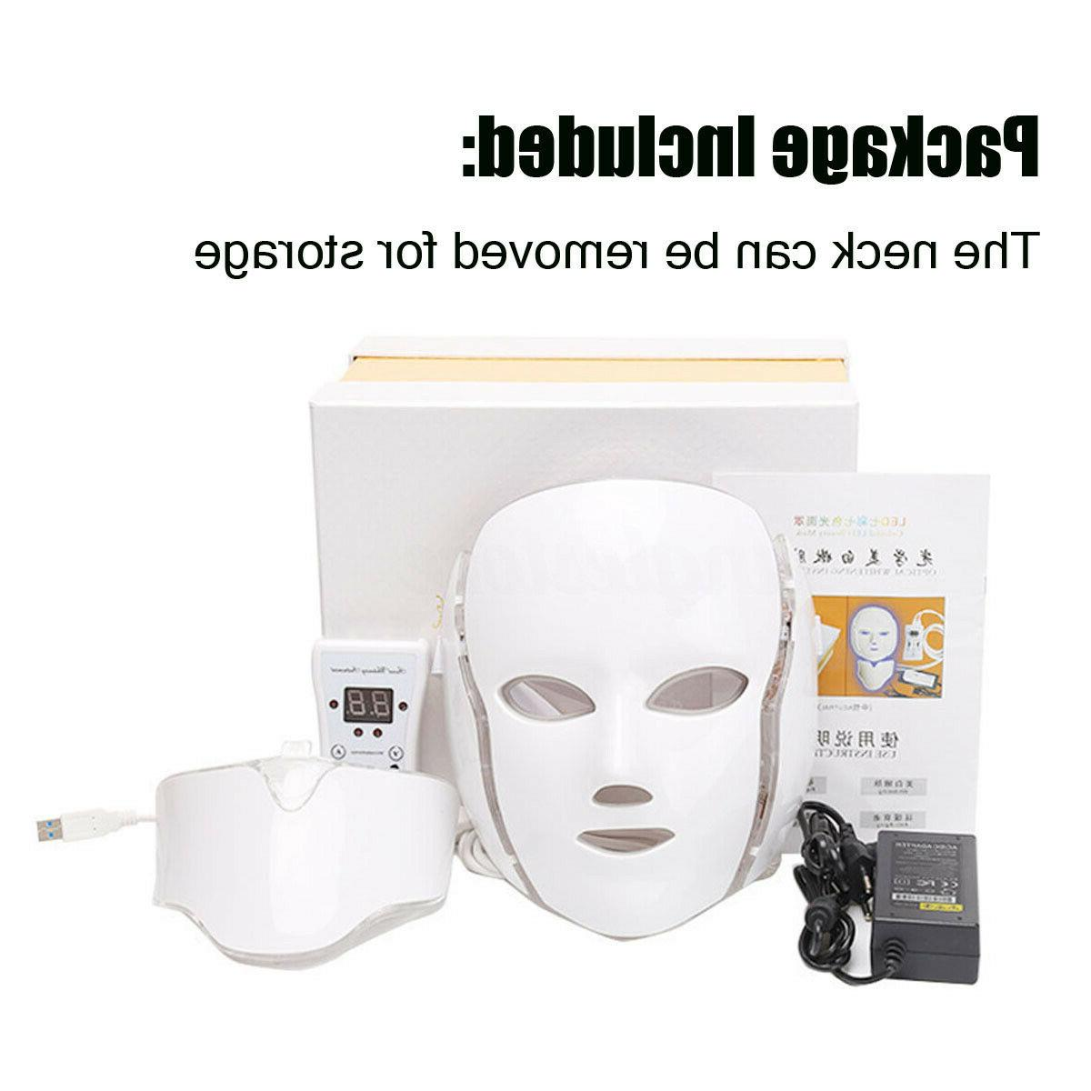 7 Color LED Photon Therapy Mask Therapy