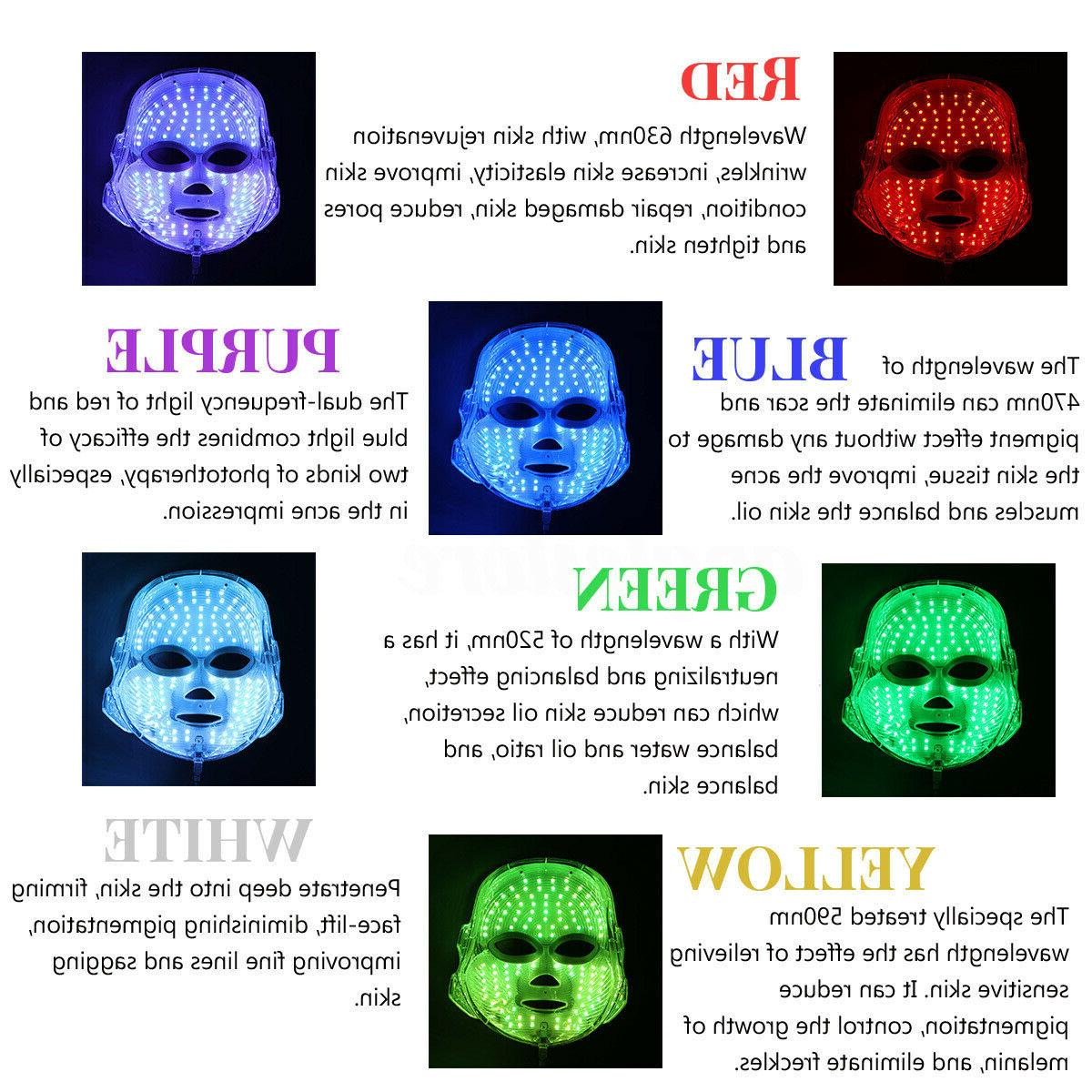 7 LED Photon Therapy Mask Skin Therapy