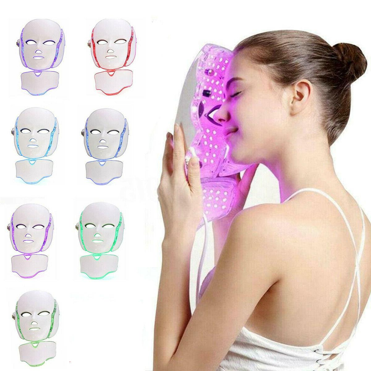 7 colors led light photon face mask