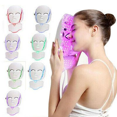7 colors led light photon face neck