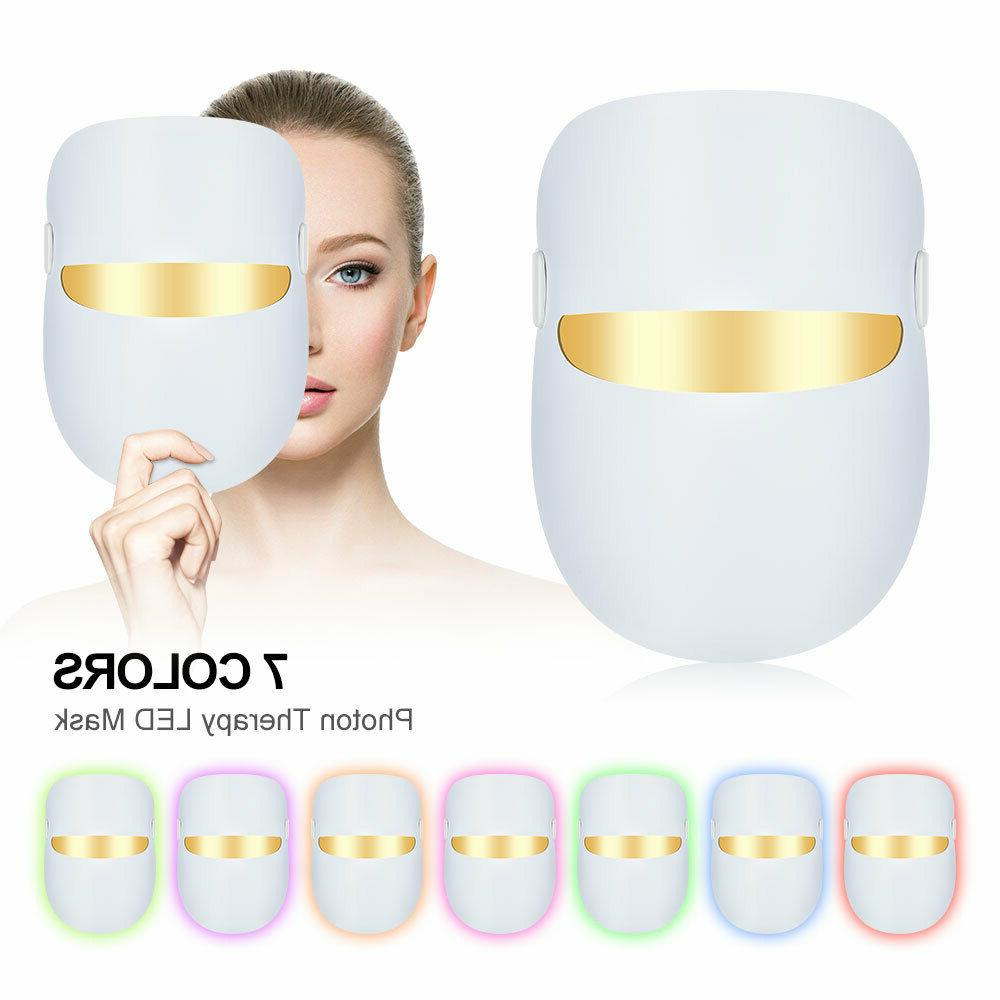 7 colors light therapy facial mask skin