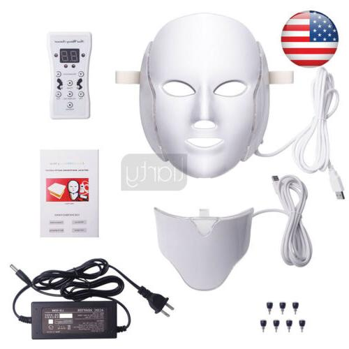 7 colours led light photon therapy face