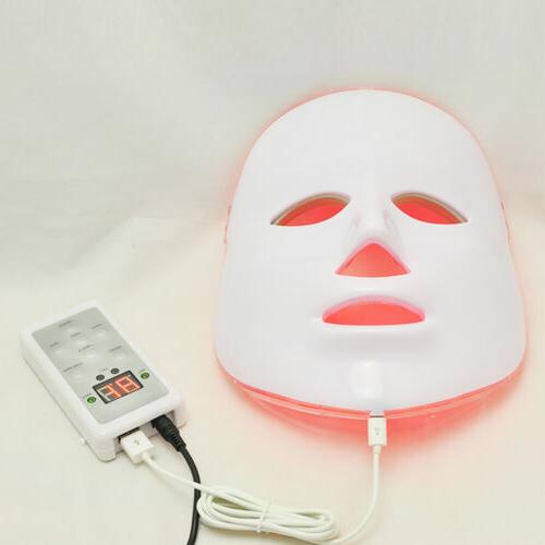 Facial Mask with LED Lights Reduce Spots Skin