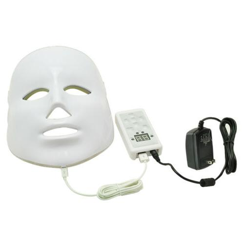 Facial with 3Color LED Lights Spots Therapy
