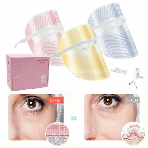 LED Face Mask Light Photon Facial Skin Therapy