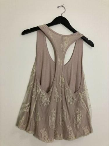 Jean Therapy Tank NWT Size Lace Floral Print Top