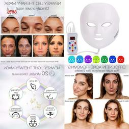 Led Face Mask, NEWKEY Led Light Therapy 7 Color Facial Skin