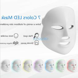 LED Facial Mask 7 colors Light Light Therapy Acne Wrinkle Fa