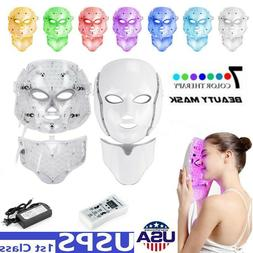 LED Light Photon Face Neck Mask Rejuvenation Skin Therapy Wr