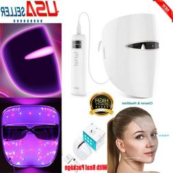 LED Light Photon Therapy Face Mask Facial Skin Therapy Wrink