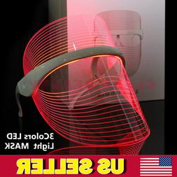 Magic Red/Blue/Yellow LED Light Photon Therapy Facial Mask A