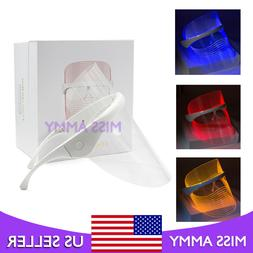 New Red/Yellow/Blue LED Light Photon Therapy Facial Mask Ant