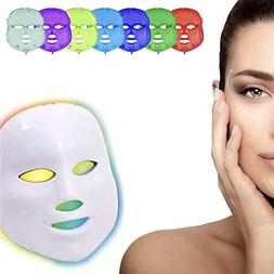 red light therapy facial led mask 7 color Renewing red light