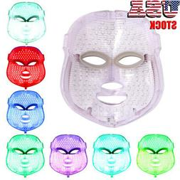 7 Colors LED Light Photon Therapy Face Mask Treatment Lift F