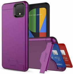 Wallet Case For Google Pixel 4 Xl Dual Layer Cards Slot Hold